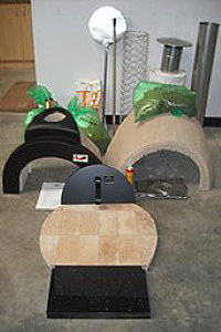 All the parts of the wood fired oven kuit